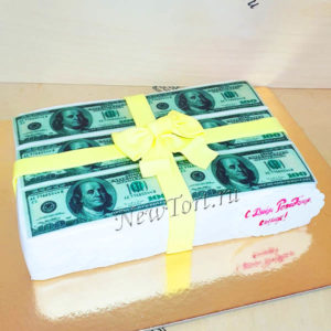 Торт баксы с бантом ТМ100