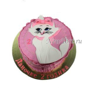 Торт кошка Мари из мастики