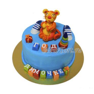 Торт тигренок на годик