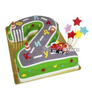 Торт-цифра на 2 года