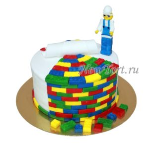 Торт Лего строитель