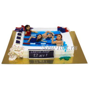 Торт спортивное плавание
