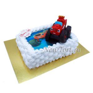 Торт с фигуркой Вспыш машинки