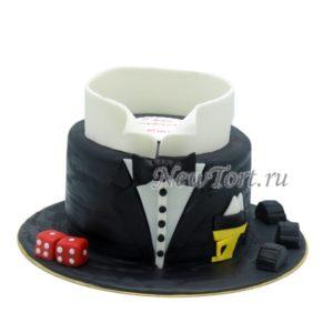Торт мужской костюм