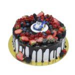 Торт Поли Робокар и ягоды