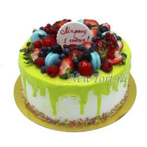 Ягодный торт на годик