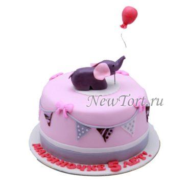 Торт слоненок с шаром