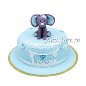 Торт на годик со слоненком