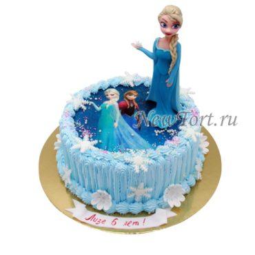 Торт с Эльзой и фотопечатью