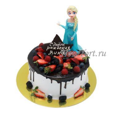 Торт с Эльзой и звездой