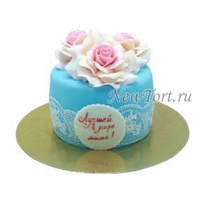 Торт большой букет роз