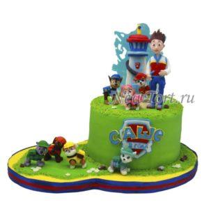 Торт щенячий патруль и башня