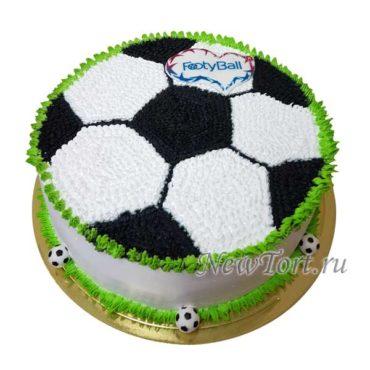 Торт с  футбольной тематикой