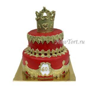 Торт с короной на юбилей