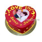 Торт сердечко СТ136