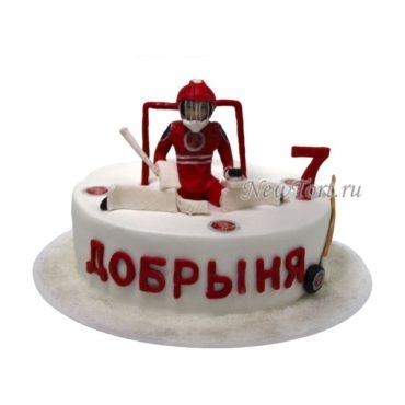 Торт хоккейному вратарю