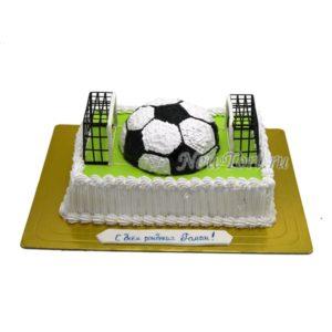 Торт футбольный с полумячом