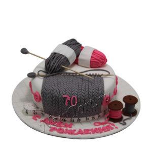 Торт для бабушки вязальные спицы