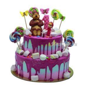 Большой торт Маша и Медведь
