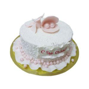 Торт с ракушкой