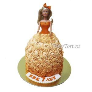 Торт кукла с бабочкой