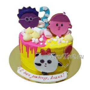 Торт малышарики  со сладостями