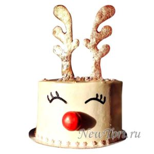 Торт новогодний олень
