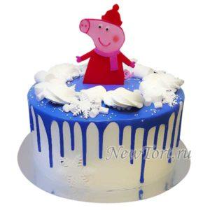 Новогодний торт со свинкой Пеппа