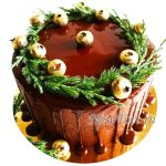 Новогодний торт с шоколадными потеками