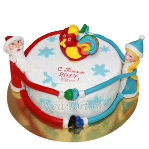 Новогодний торт дед мороз и снегурочка