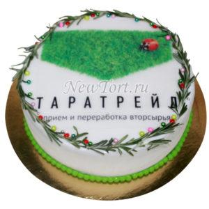 Новогодний торт с божьей коровкой