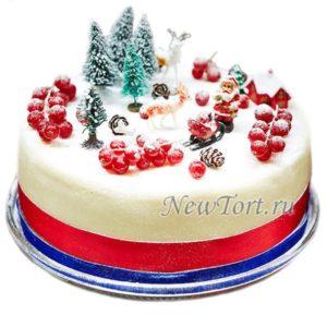 Новогодний Торт Ягода В снегу