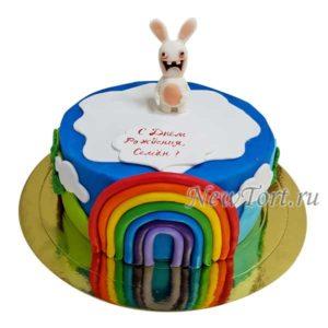 Торт с Финном и радугой