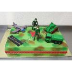 Военный торт с танком и самолетом
