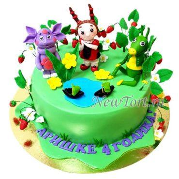 Торт Лунтик из мастики