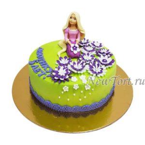 Торт Рапунцель с цветами