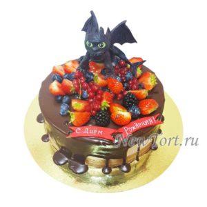 Торт  Беззубик и ягоды