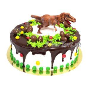 Торт с тираннозавром