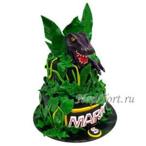 Большой торт с динозавром