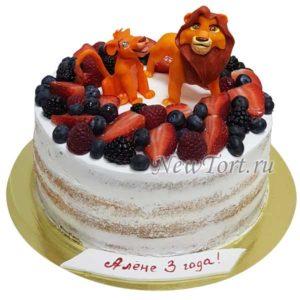 Торт  Король Лев без мастики