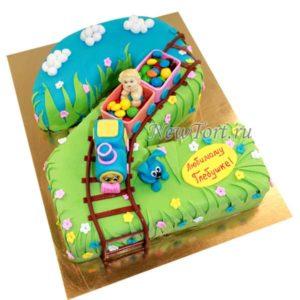 Торт паровозик со сладостями