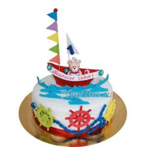 Торт мишка морячок