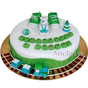 Торт мишка и паровозик