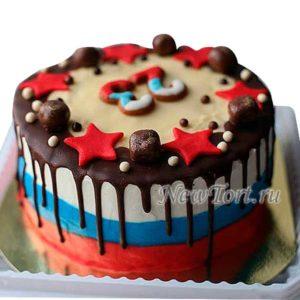Торт на 23 февраля без мастики