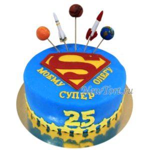 Торт космический супермен