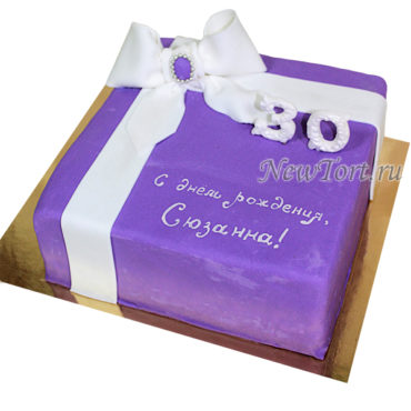 Торт коробка с бантом