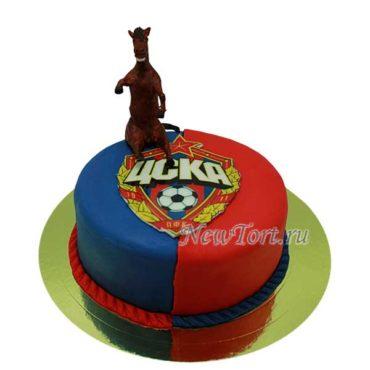 Футбольный торт с конем