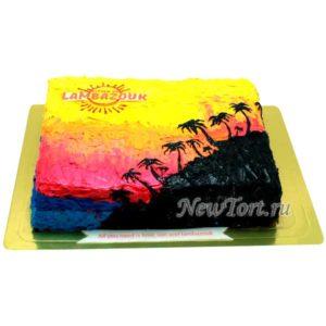Торт для туристической компании