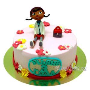 Торт доктор Плюшева  и сумочка