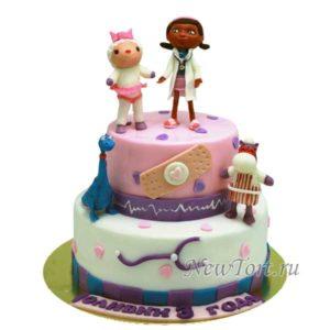 Торт доктор Плюшева два яруса